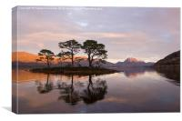Loch Maree and Slioch at sunset, Canvas Print