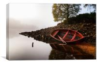 Misty Morning on Loch Affric, Canvas Print