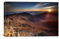Sunrise at the end of the World, Canvas Print