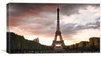 View from Champs des Mars, Canvas Print