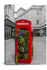 The reinvented phone booth, Canvas Print