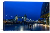 Tower Bridge & City Hall during the blue hour, Canvas Print