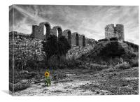 Life in the ruins, Canvas Print