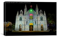 Saint Patrick's Cathedral of Pune on Christmas eve, Canvas Print