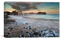 Cromer a Winters Dawn, Canvas Print