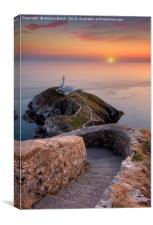 South Stack Sundown, Canvas Print