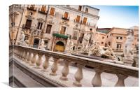 Palermo, Sicily, Italy - Fountain of Shame, Canvas Print