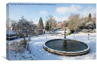 Snow in Corporation Park, Canvas Print