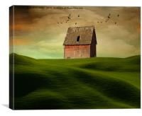 The little red barn , Canvas Print