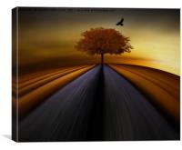 Brown and gold, Canvas Print