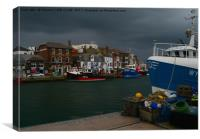 fishing boats  weymouth Old Harbour Dorset Uk , Canvas Print