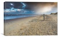Beach storm, Canvas Print