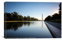 Morning at the Washington , Canvas Print