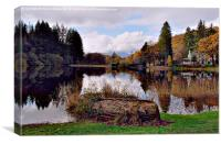 Scottish Trossachs in Autumn, Canvas Print