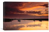 Red Sky Over Burnham Overy, Canvas Print
