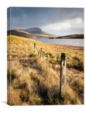 The Fence and The Storr, Canvas Print