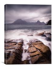 Elgol Channel, Canvas Print