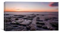 Hunstanton Beach at Sunset, Canvas Print