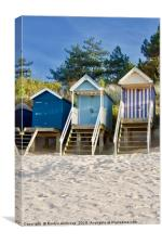"""Beach Huts """"Sand in My Shoes"""" Wells-Next-The-Sea, Canvas Print"""