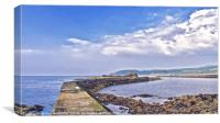 Maidens Harbour Ayrshire, Canvas Print