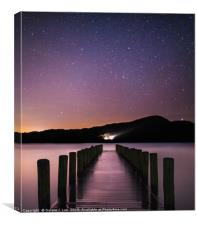 Starry Night by the Lake, Canvas Print