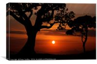 Sunset Silhouette #2, Canvas Print
