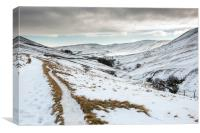 Winter in the Vale of Edale, Canvas Print