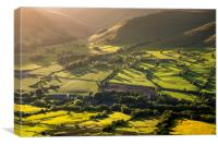 Green countryside in the Vale of Edale, Canvas Print