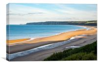 Hunmanby sands, Filey Bay, North Yorkshire, Canvas Print