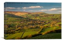 Beautiful view from Eccles Pike, Derbyshire, Canvas Print