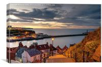 199 Steps in Whitby at Dusk, Canvas Print