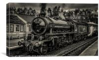62005 at grosmont station, Canvas Print