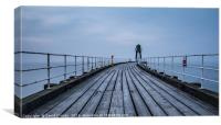 Whitby boardwalk, Canvas Print