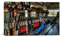 In the signalbox, Canvas Print