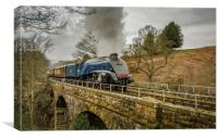 60007 Sir Nigel Gresley at Water Ark, Canvas Print