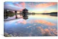 Cropston Reservoir Sunset, Leicestershire , Canvas Print