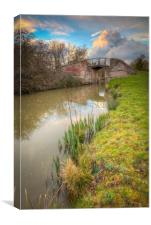 South Stratford Canal, Wootton Wawen, Canvas Print