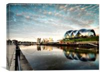 Mid Summer Quayside, Newcastle, Canvas Print