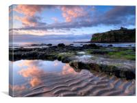 king Edwards Bay, Tynemouth, Canvas Print