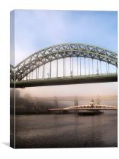 Misty Morning on Tyne, Canvas Print
