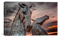 Kelpies in Falkirk, Scotland, Canvas Print