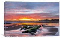 Sunrise at Tynemouth Longsands, Canvas Print