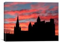 Aberdeen at Night, Canvas Print