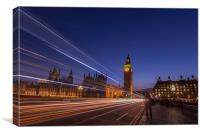 westminster rush, Canvas Print