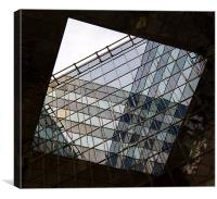 Glass reflections, Canvas Print