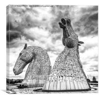 The Kelpies at Falkirk, Canvas Print