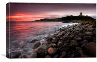 Greymare Dawn, Dunstanburgh, Canvas Print