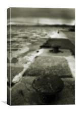 Slipway Into The Firth Of Forth, Canvas Print