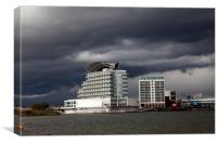 Cardiff Bay and St David's Hotel, Canvas Print