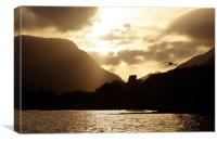 Llanberis Sunrise, Canvas Print